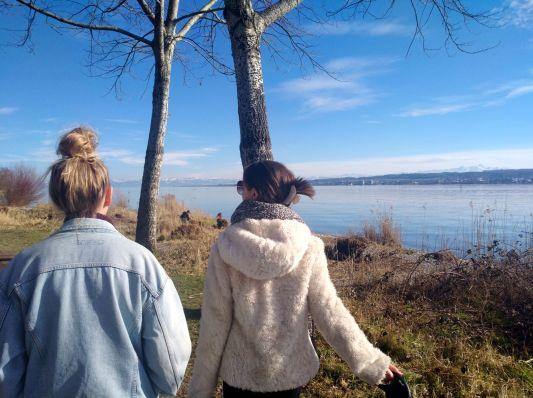 Schönes Wetter für einen Spaziergang am Bodensee